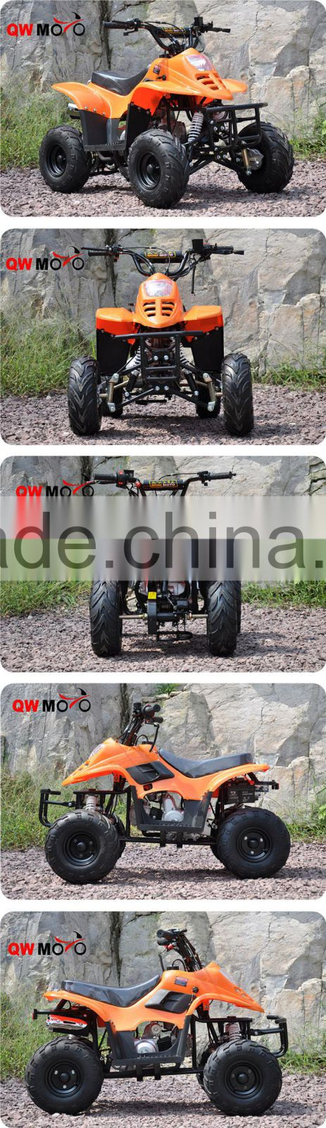 QWMOTO CE Electric Start 110cc Displacement 4 Wheeler Motorcycle 110CC Go Kart 110cc Dirt Quad Bike 110CC Gas powered Kids ATV