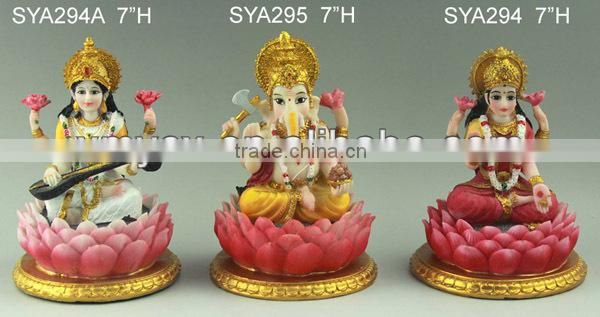 Wholesale Resinic India God Vishnu Laxmi Statues