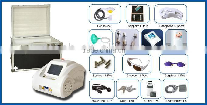 Poratble E-klight machine for vascular lesions removal