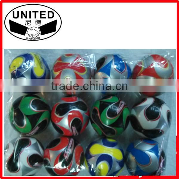 Top quality custom logo Polyurethane pu memory foam antistress ball /beach ball stress ball