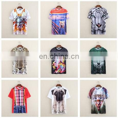 Peijiaxin Fashion Design Casual Style Cool 3D Printing Man Cotton Polyester T shirt