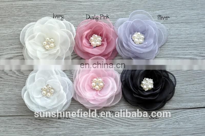 Organza Grilled side flower handmade decoration flower fashionable flower