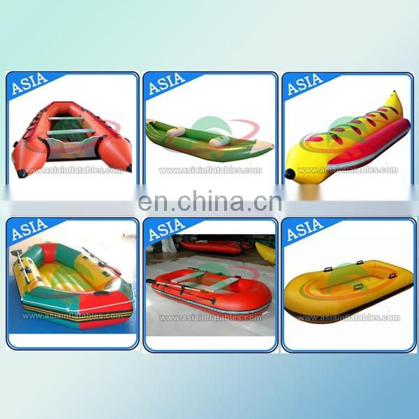 China Factory hot selling cheap Durable 0.9mm PVC inflatable raft boat for 3 people