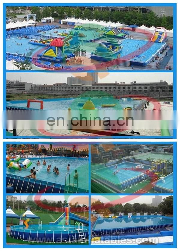 Inflatable Stents Pool , Metal Frame Inflatable Swimming Pool