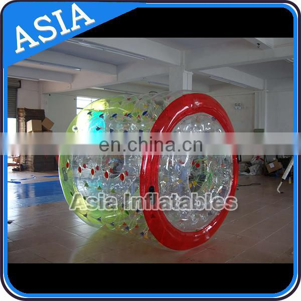 Transparent water drive roller ball for pool play,China wholesale cheap price water roller ball