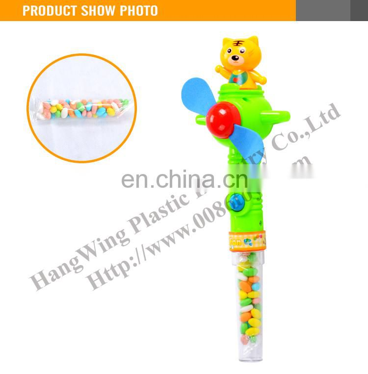 2015 Hot Promotional Items Mini Handheld Spinning Personal Fan Candy Toys