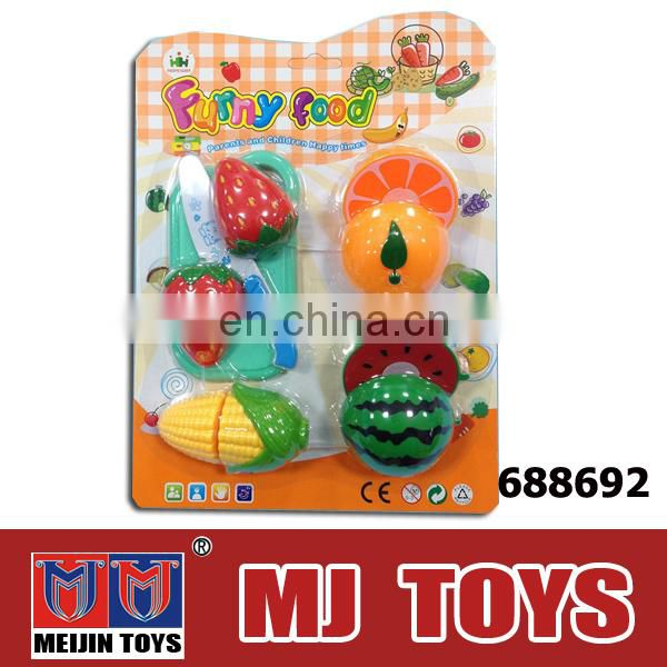 Cut children plastic fruit toy cheap chinese toy
