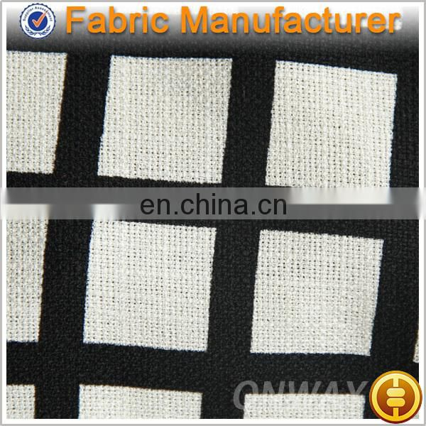 Onway Textile 100% polyester cheap jacquard fabric for ready made garment/dress textile