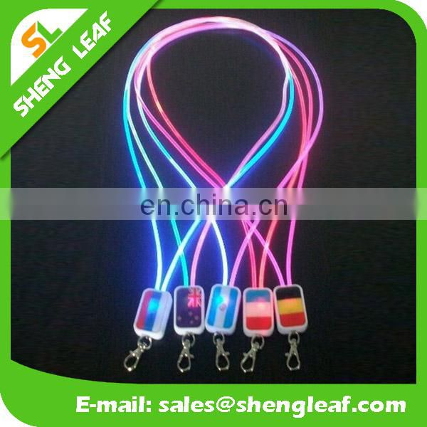 Custom led lanyard with logo printed