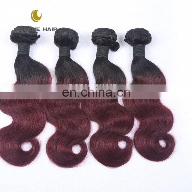 100% human hair two tone ombre hair braiding hair