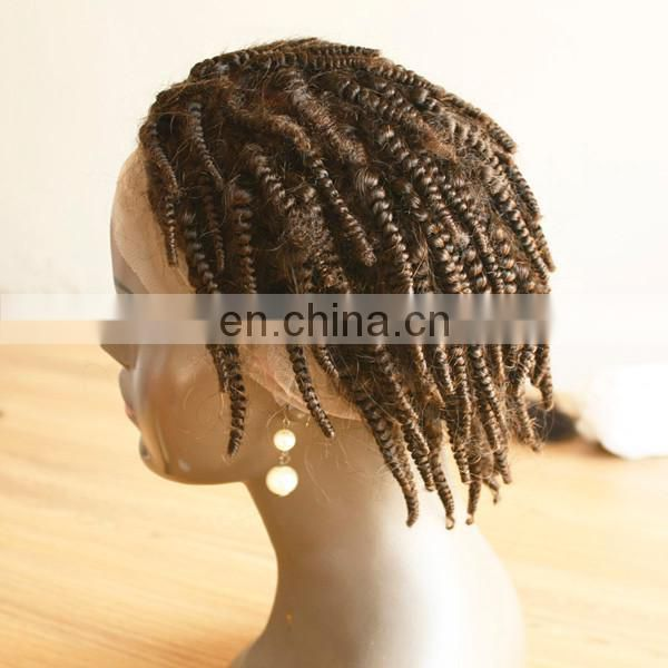 lace front wig for black man of tangle free human hair wig