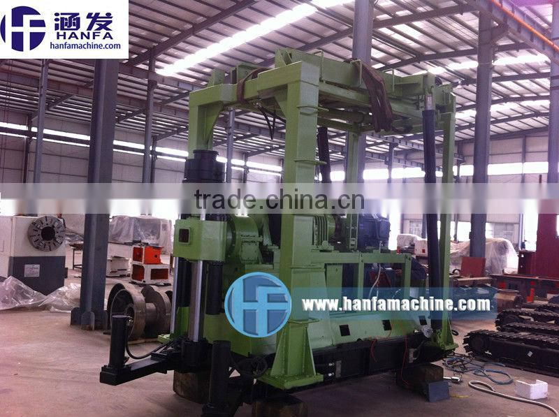 Strong equipment,can drill to more than 1000m!!!HF-44B Electro-hydraulic intelligent control drilling rig