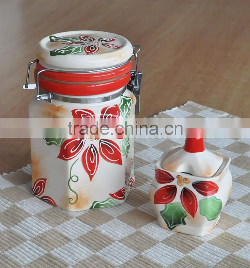 canister, ceramic canister, canister with iron seal
