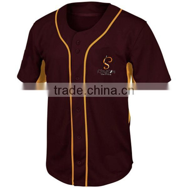 Custom Made Man Stylish Design Dry Fit Embroidery Baseball Jersey
