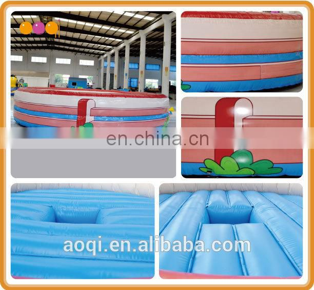 AOQI commercial use outdoor inflatable bullring game for adults