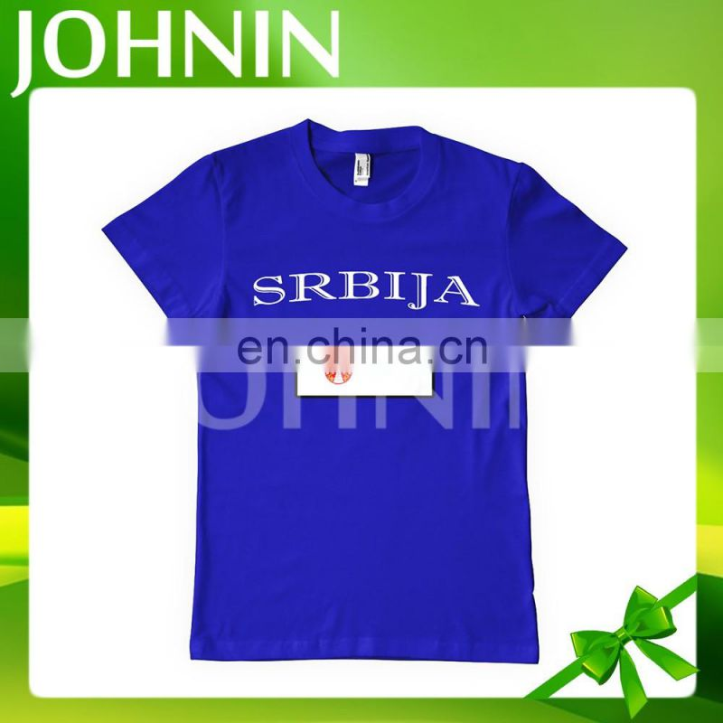 Hot selling custom logo design sublimation all kinds cotton country flag T-Shirts