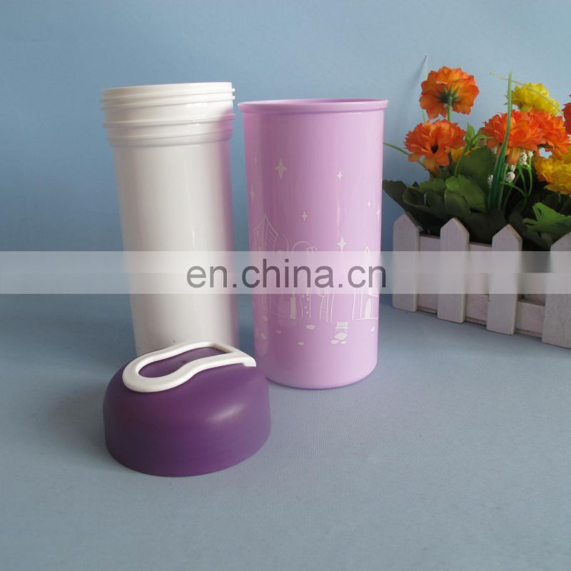 Plastic portable 16oz double wall cup