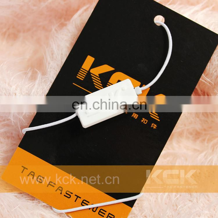 Elastic String Hang Tag with logo for fastener brand