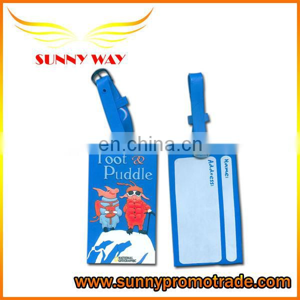 2014 new product Dolphin shape soft PVC luggage tag