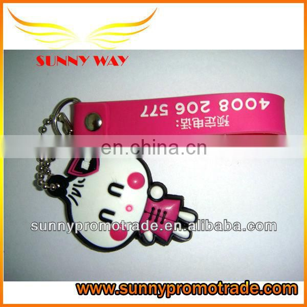 hot selling fashion soft pvc mobile phone strap