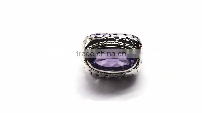 925 Sterling Silver Gemstone Amethyst ring