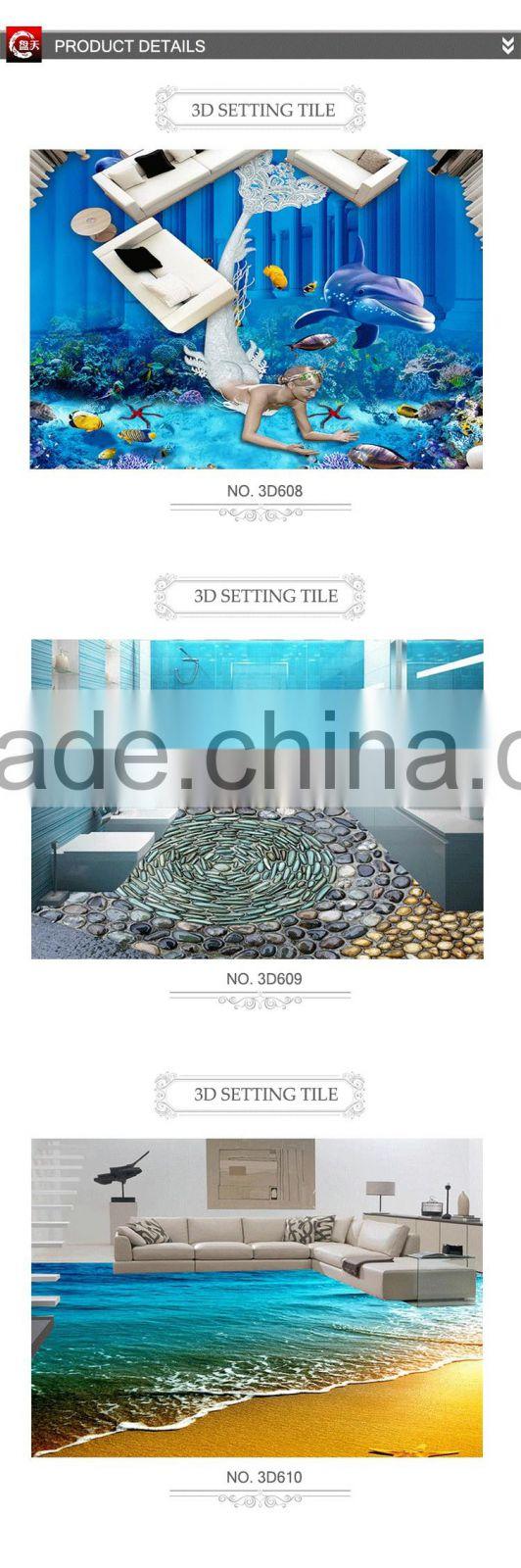 Polished porcelain 3D livingroom floor tile ceramic agl tiles ...