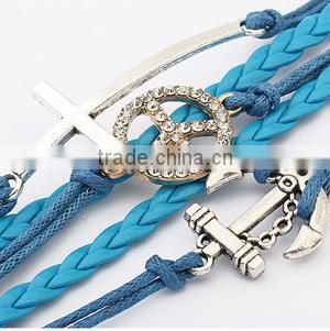 Cute hand accessories cross weaving fashion bracelet