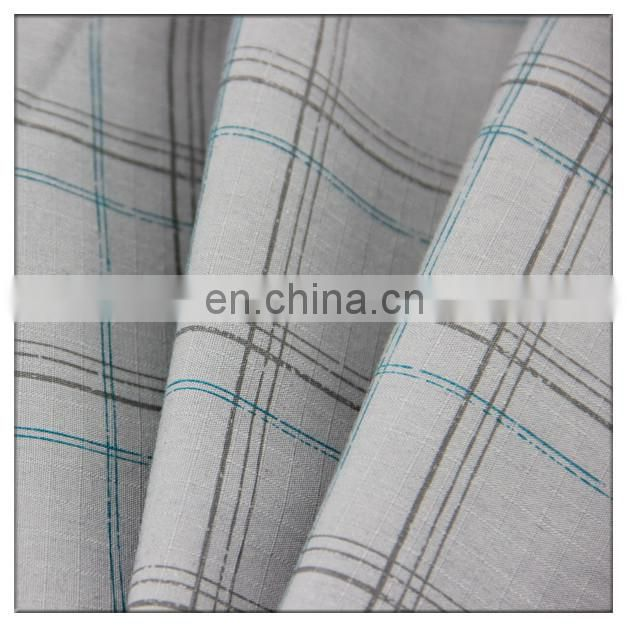 Check design poly/cotton 80/20 fabric poly cotton european style jacquard fabric