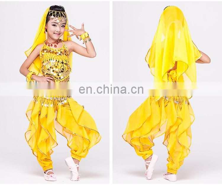 Indian performance pretty belly dance costume for kids ET-005