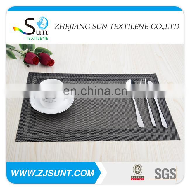 Hot sale grey and black double rectangle placemat in 2015