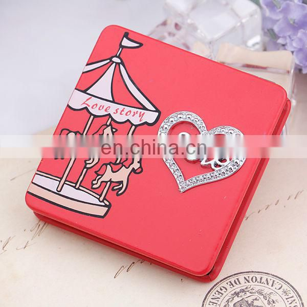 HOT SALE DELICATE HEART FASHION MAKE UP POCKET MIRROR