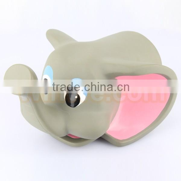 baby safey bath water spout cover soft plastic elephant shape