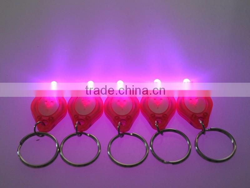 12000-14000mcd Pink Light cheap LED Keychain Gift