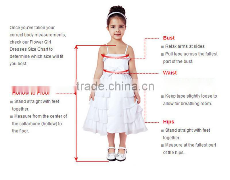 Wedding 2-12 Years Old Latest Children Frocks Birthday Lace Long A Line Flower Girl Dresses Pattern Kids Party LF16