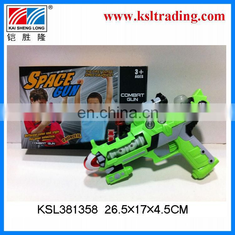 B/O gun plastic toys space gun for children