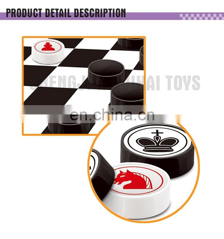 2 in 1 giant chess plastic international chess game toys