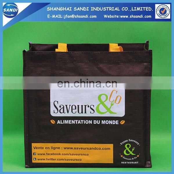 high quality custom printing foldable shopping bag