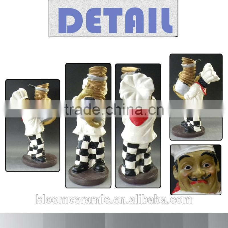 Lovely resin chef figurines restaurant decoration