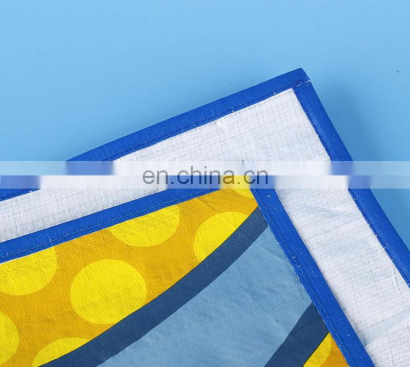 Wholesale cheap large foldable pp woven beach mat