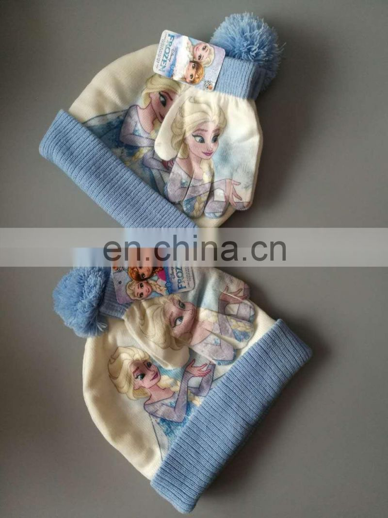 Frozen sublimation transfer printing hat&glove set