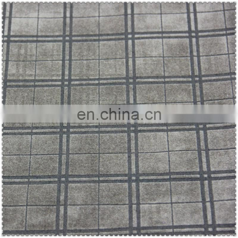 100 cotton twill flocking fabric 100% cotton fabric for suits