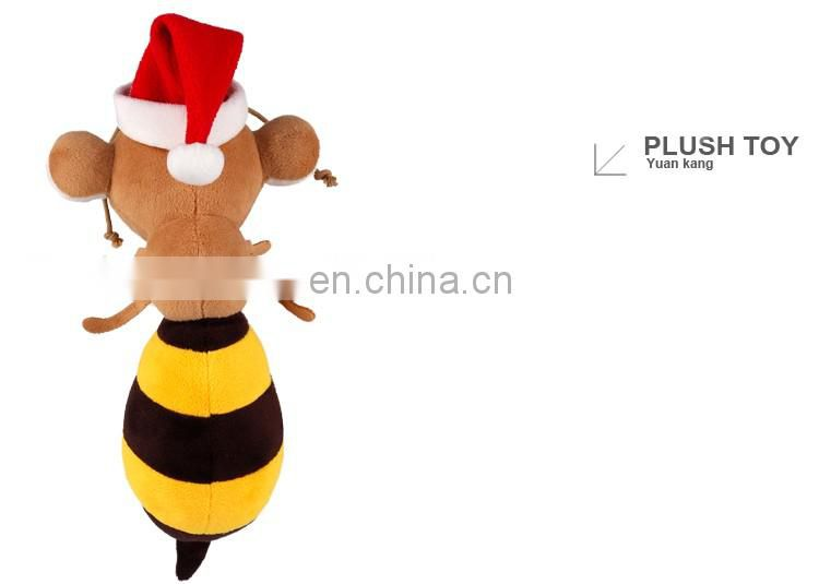 Wholesale Stuffed Lovely 20cm Plush Christmas Toys Bumble Bee For Gift Christmas 2016