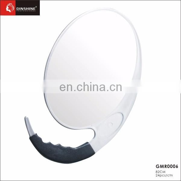 Clear mirror cosmetic make up round mirror for salon beauty with handle