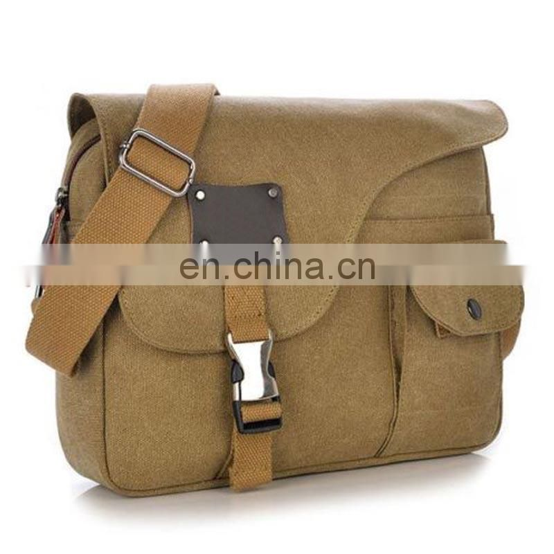 Mens fashion canvas shoulder messenger bag