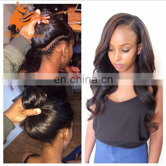 brazilian loose wave natural color glueless lace wig 130% density black full lace wig with baby hair
