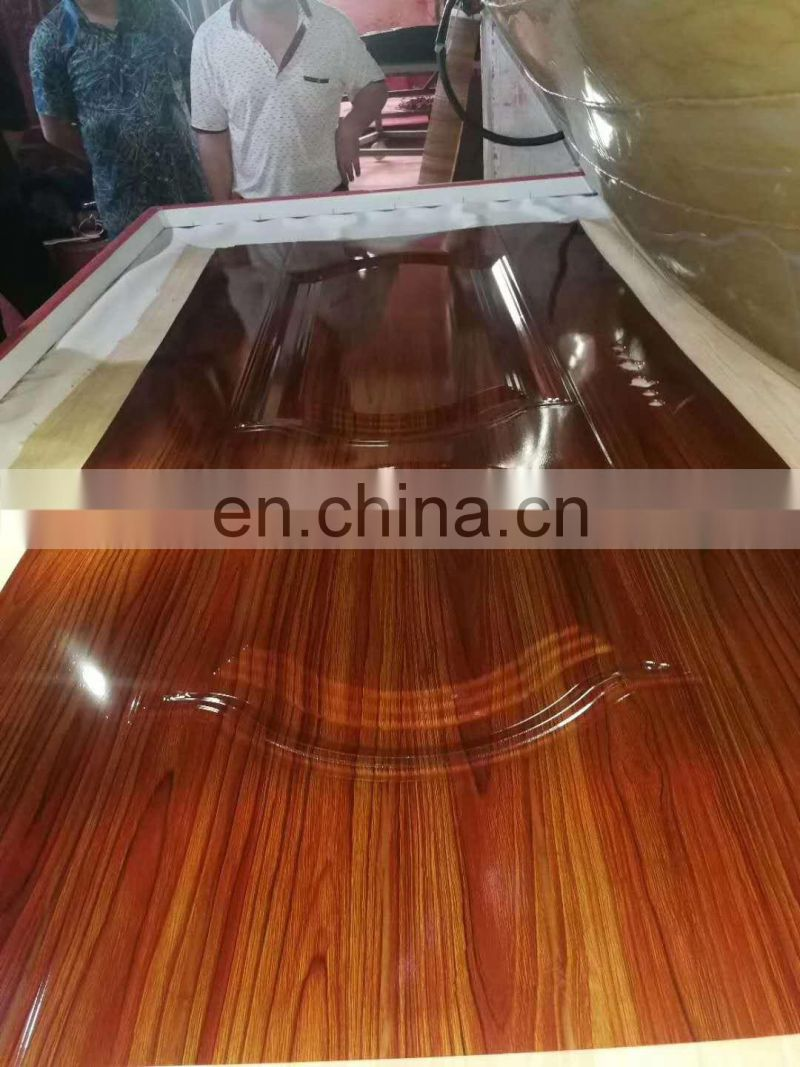 Automatic doors wood texture transfer printing machine MWJM-01