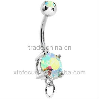 Aurora Cubic Zirconia ADD ON CHARM Belly Ring Accessories