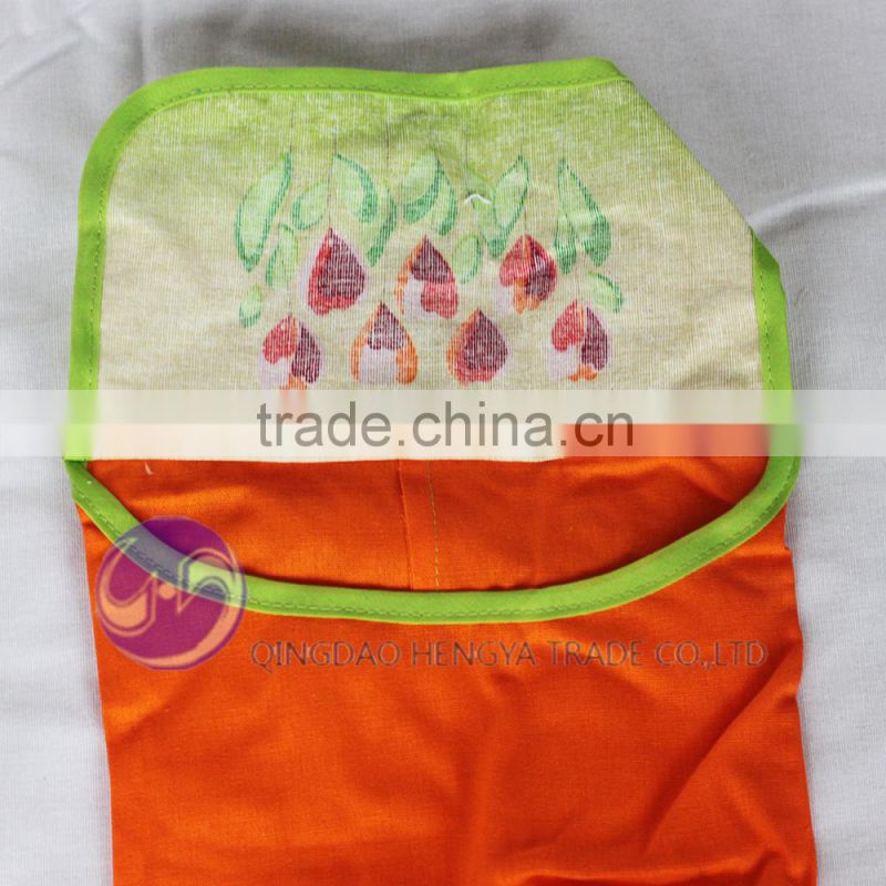 Qingdao Shandong wholesale custom printed bread basket and cooking bag and kitchen apron set