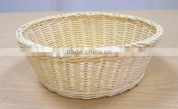 RH-YF32 wholesale round shape storage rattan small bread basket