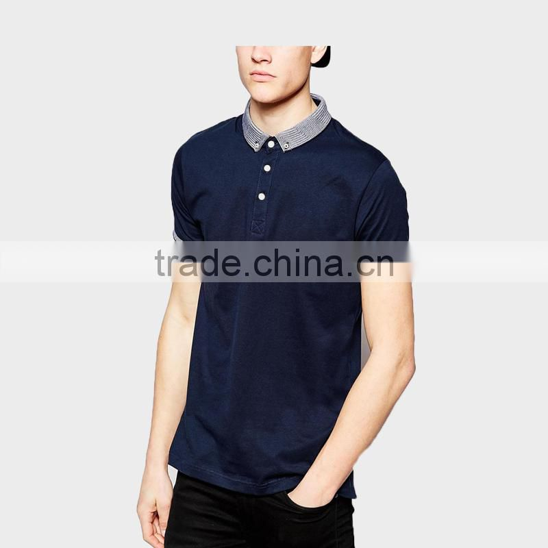 Latest Men's Polo Shirt with Ribbo